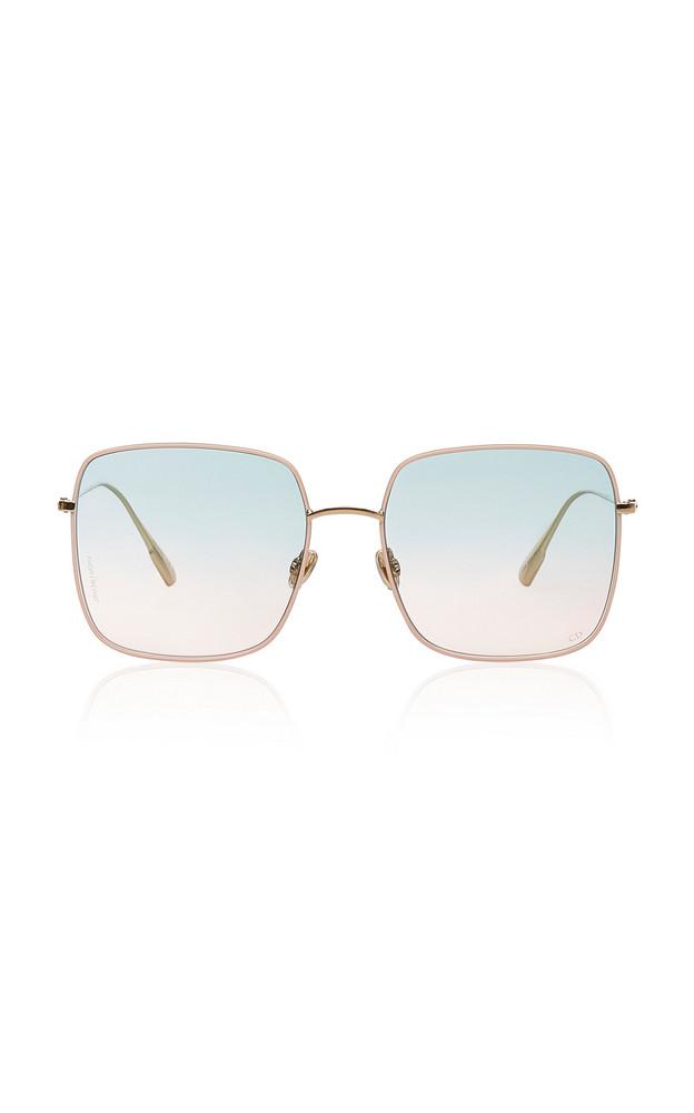 Dior Dior Stellaire Square-Frame Gold-Tone Sunglasses in pink