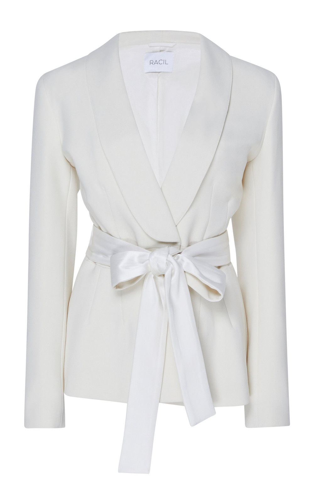 Racil Michelle Self-Belted Crepe Blazer in white