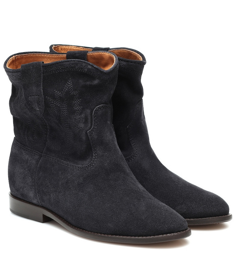 Isabel Marant Crisi suede ankle boots in black