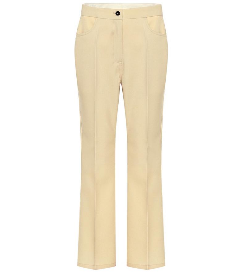 Jil Sander High-rise straight wool pants in beige