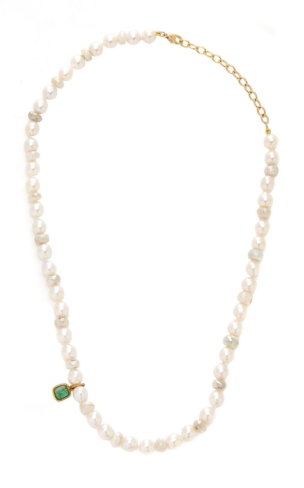 Objet-a 18K Gold And Multi-Stone Necklace in white