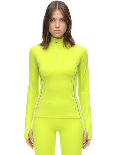 REEBOK X VICTORIA BECKHAM Fitted Techno Jersey Top in yellow