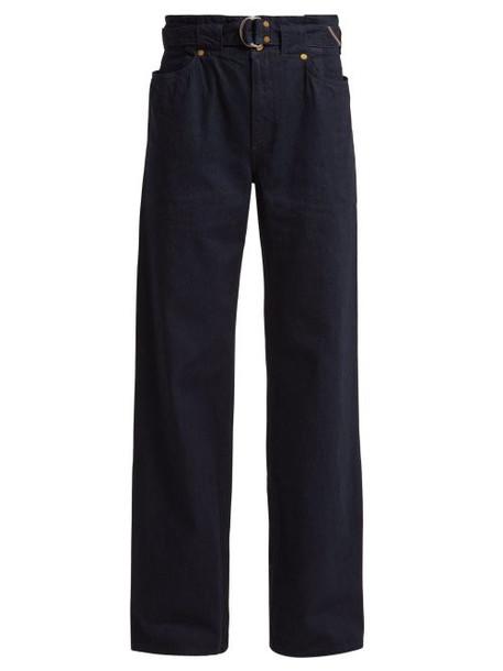 Jean Atelier - Cinch Belted Waist Jeans - Womens - Black