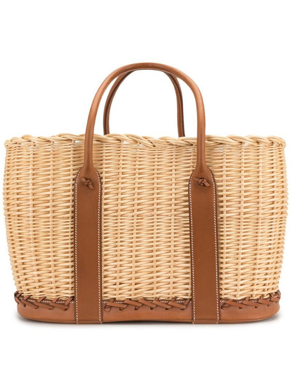 Hermès pre-owned Garden Picnic Basket tote bag in brown