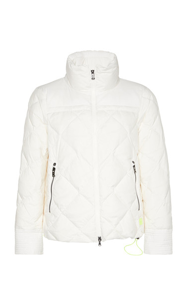 Bogner Palina Quilted Shell Down Coat Size: 4 in white