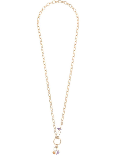 Dsquared2 crystal-embellished chain necklace in gold