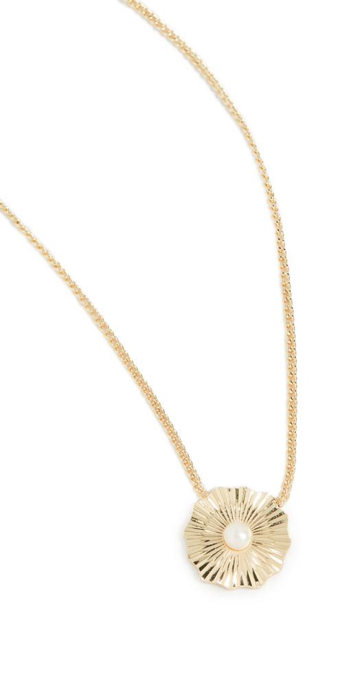 Gorjana Alice Pearl Necklace in gold