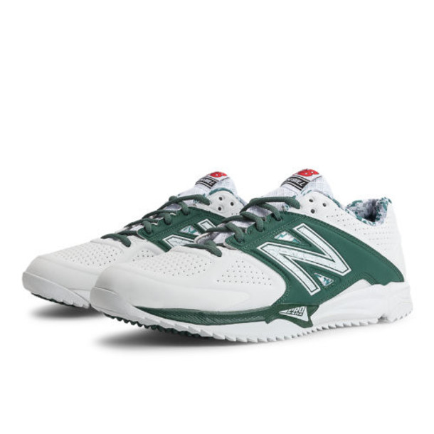 New Balance Turf 4040v2 Men's Turf Shoes - White, Green (T4040SG2)