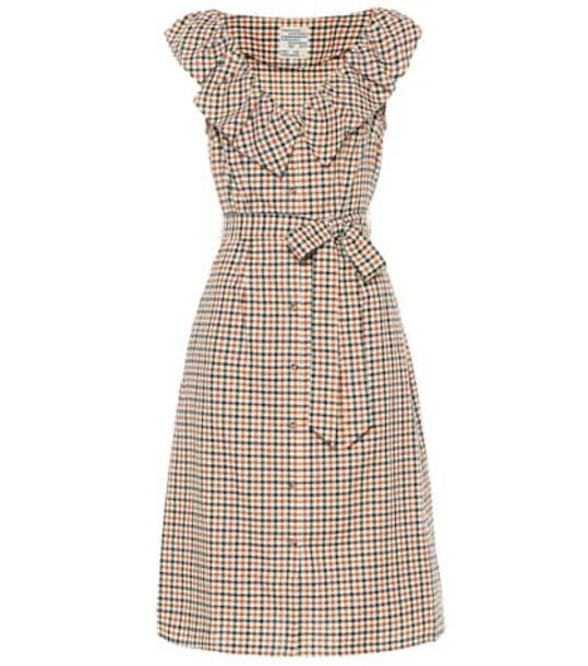 Baum und Pferdgarten Exclusive to Mytheresa – April checked cotton midi dress in brown