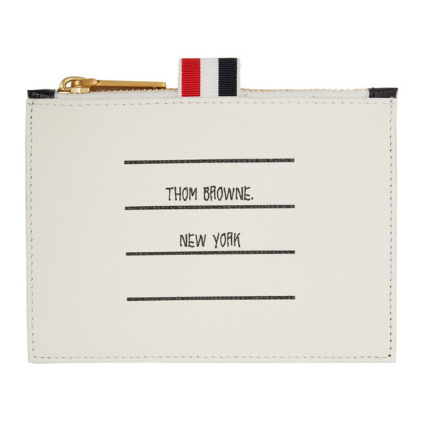 Thom Browne Black and White Small Paper Label Coin Purse