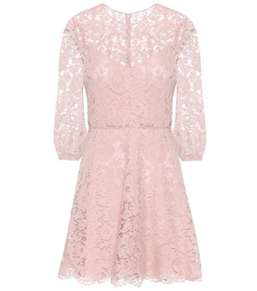 Valentino Lace minidress in pink