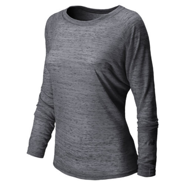 New Balance 5175 Women's Inspire Pullover - Anthracite Heather (WFT5175ATH)