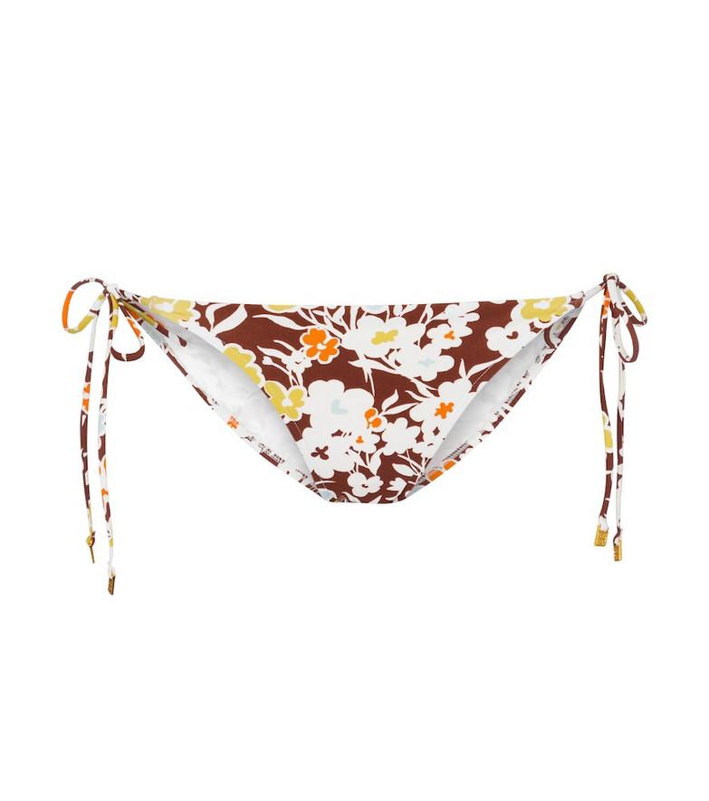 Tory Burch Floral bikini bottoms in brown