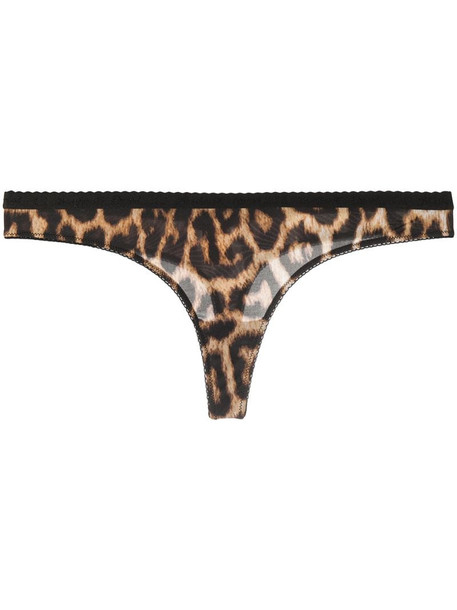 Just Cavalli leopard-print thong in brown