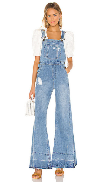 Show Me Your Mumu San Fran Overalls in blue