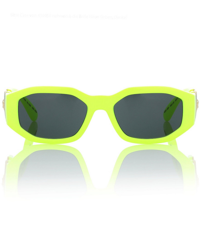 Versace Rectangular sunglasses in yellow