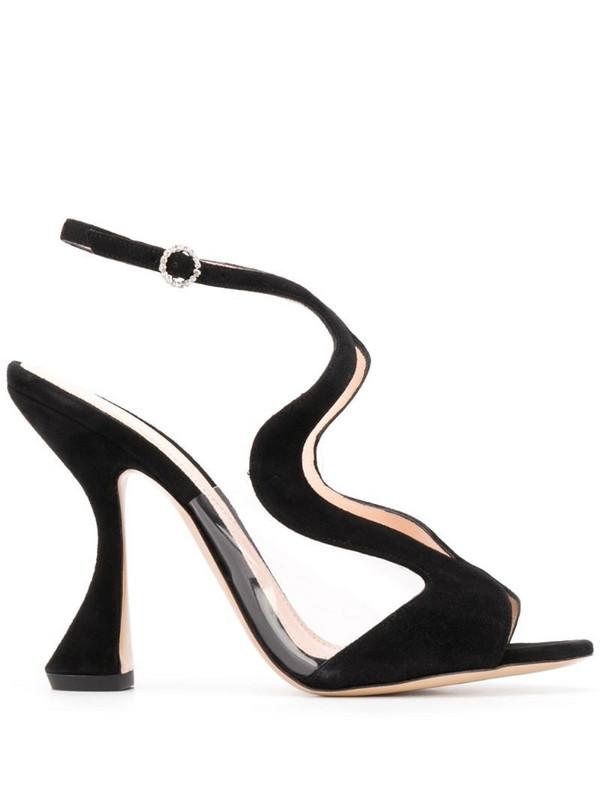 Nicholas Kirkwood ALYSSA 105mm sandals in black