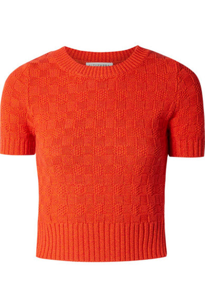 Altuzarra - Nicoletta Cotton-blend Sweater - Orange