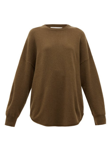 Extreme Cashmere - No. 53 Crew Hop Oversized Cashmere Blend Sweater - Womens - Brown