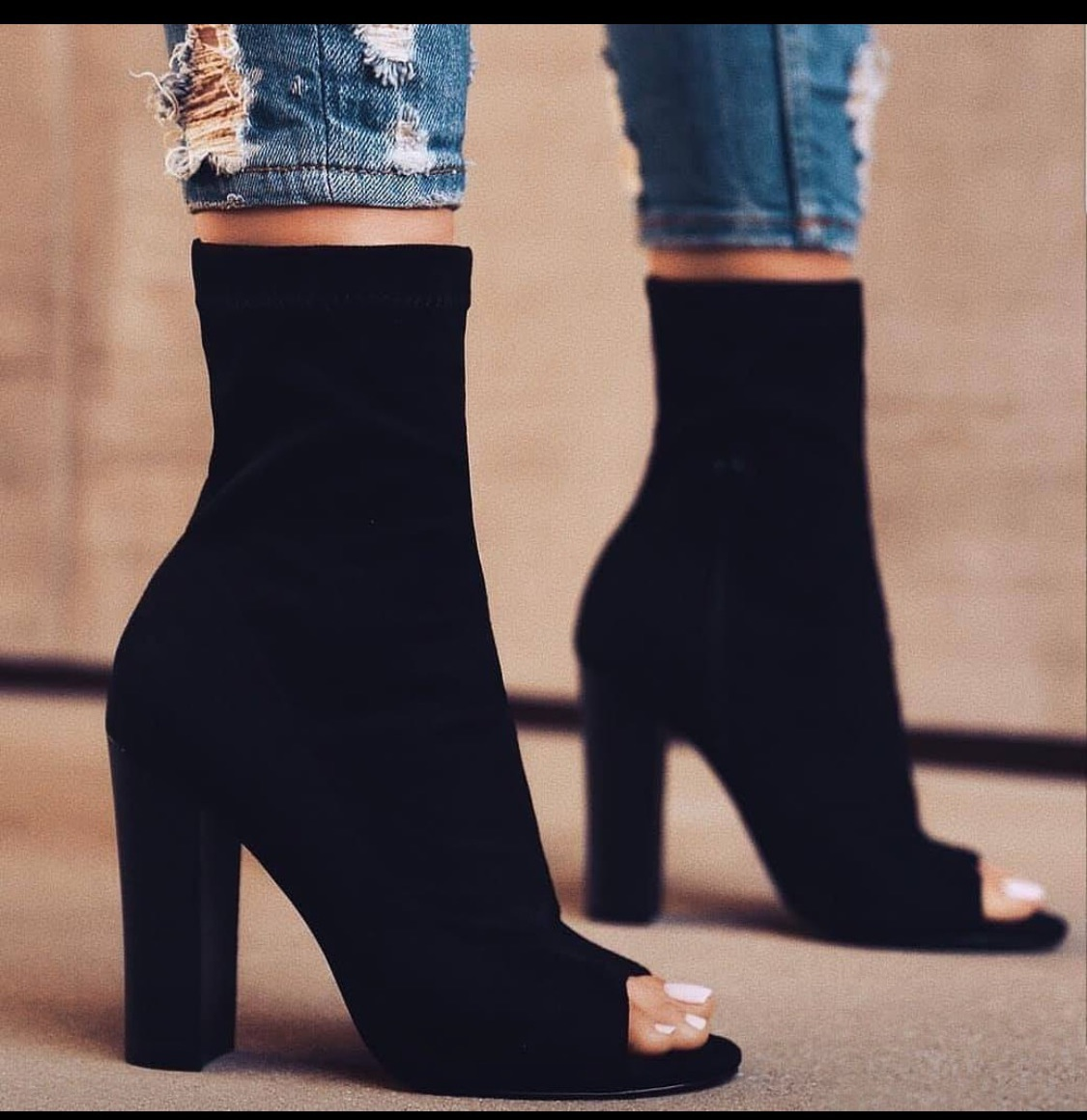 shoes booties black
