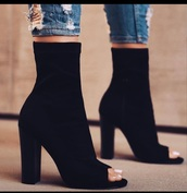shoes,booties,black