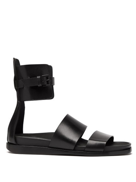 Ann Demeulemeester - Leather Gladiator Sandals - Womens - Black