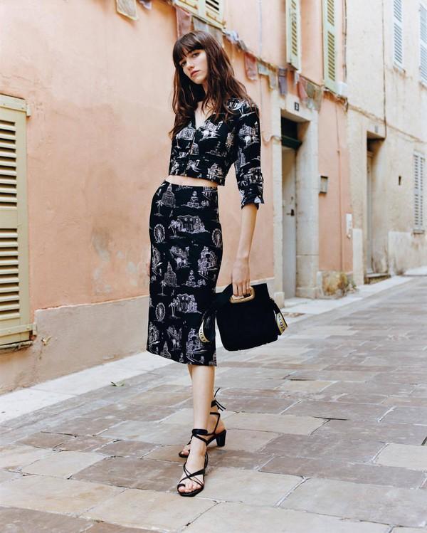 crop tops black crop top skirt black skirt top