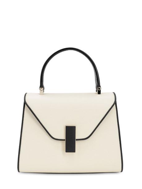 VALEXTRA Mini Iside Bicolor Grained Leather Bag in nero