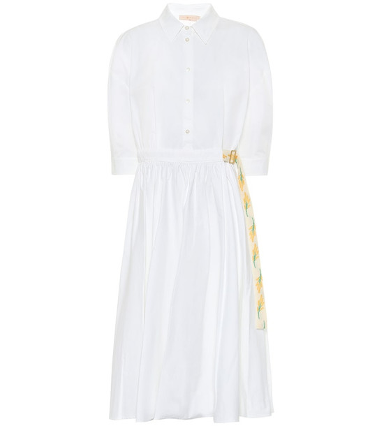 Tory Burch Cotton poplin midi dress in white