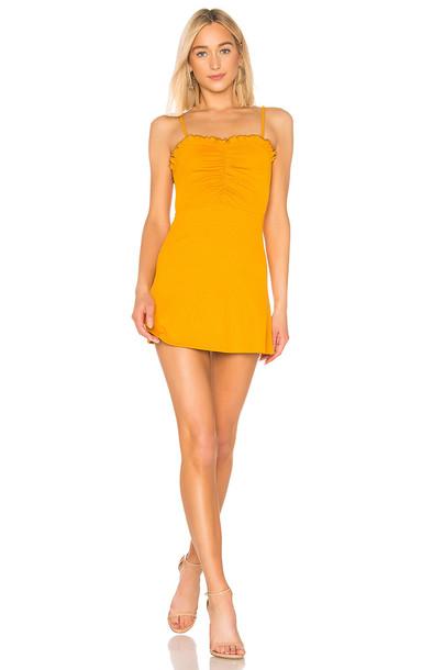 Lovers + Friends Schiffer Mini Dress in yellow