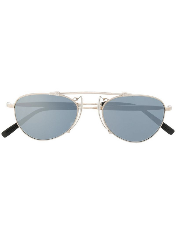 Matsuda M3036 aviator-frame sunglasses in metallic