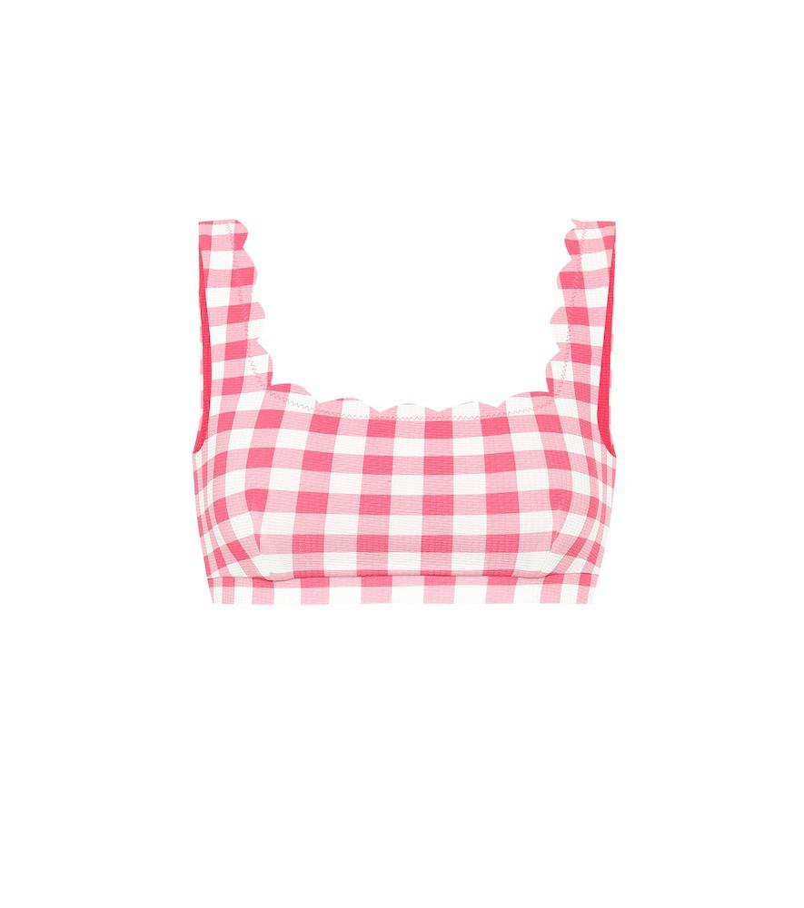 Marysia Exclusive to Mytheresa – Palm Springs reversible bikini top in pink