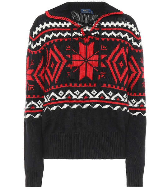Polo Ralph Lauren Cotton and cashmere sweater in black