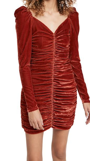 MINKPINK Amelda Mini Dress in copper