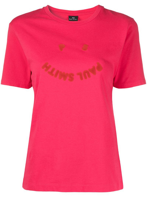 PS Paul Smith smiley face print T-shirt in pink