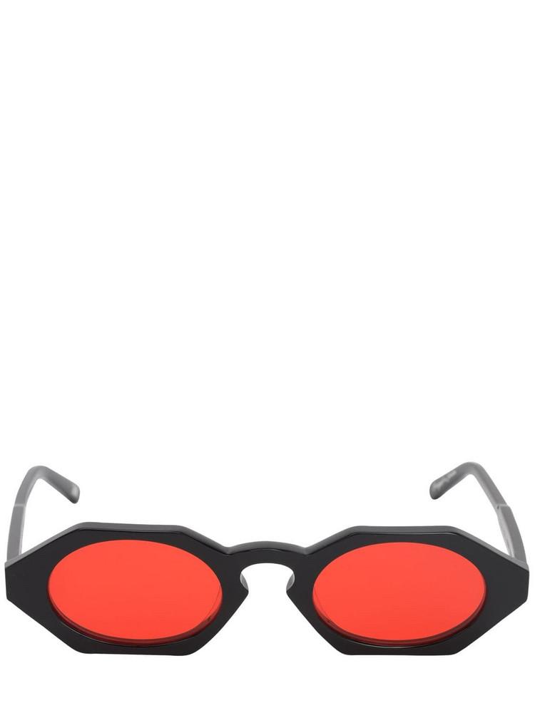 CHIMI Laser Liquid Acetate Sunglasses in black / red