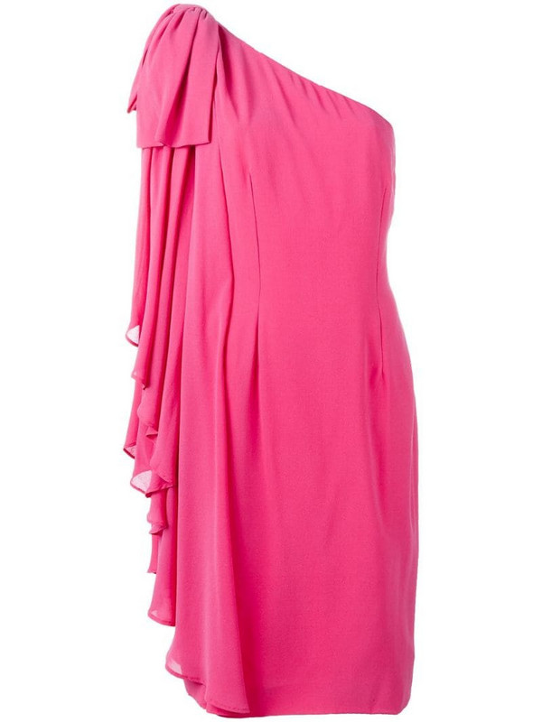 Jean Louis Scherrer Pre-Owned one shoulder dress in pink