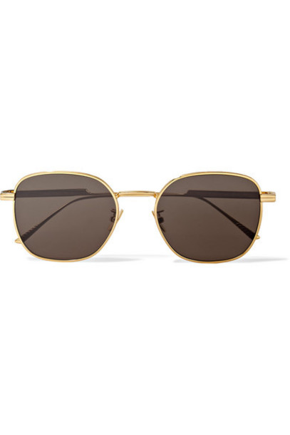 Bottega Veneta - Square-frame Gold-tone Sunglasses