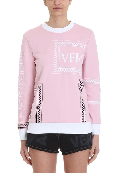 Versace Pink Cotton Sweatshirt