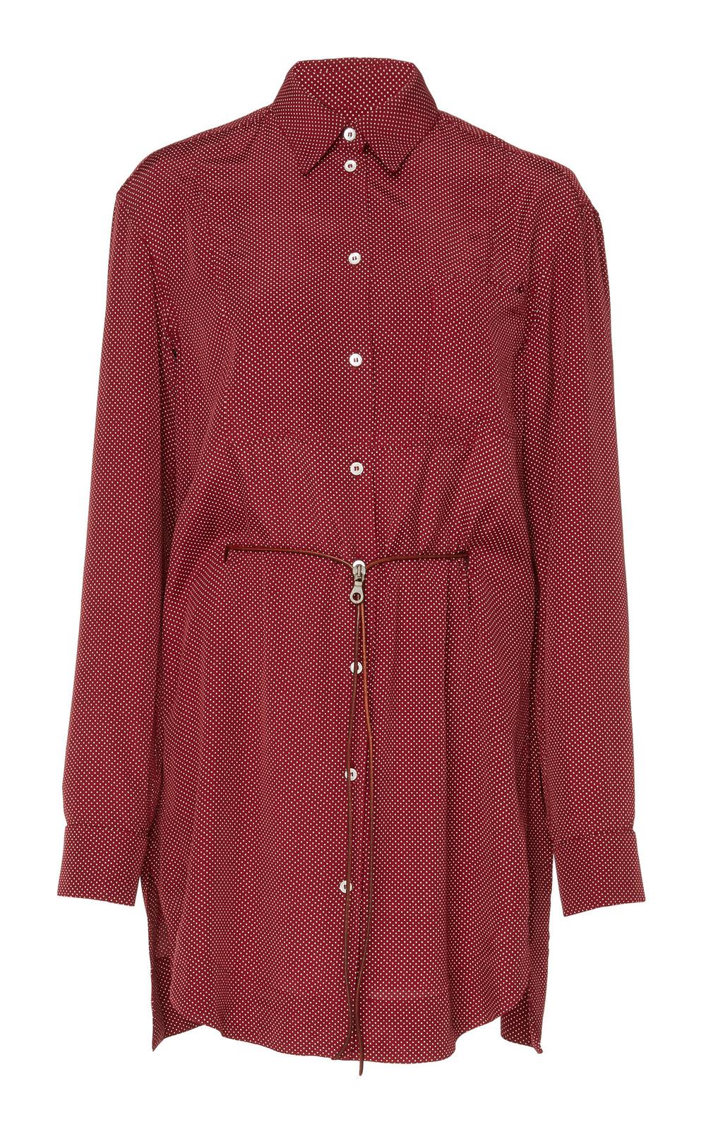 Tre by Natalie Ratabesi Scarlet Silk-Blend Tunic in burgundy