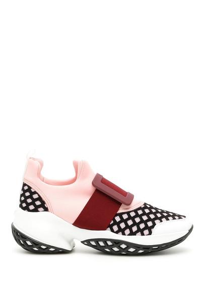 Roger Vivier Viv Run Multicolor Sneakers in nero / pink