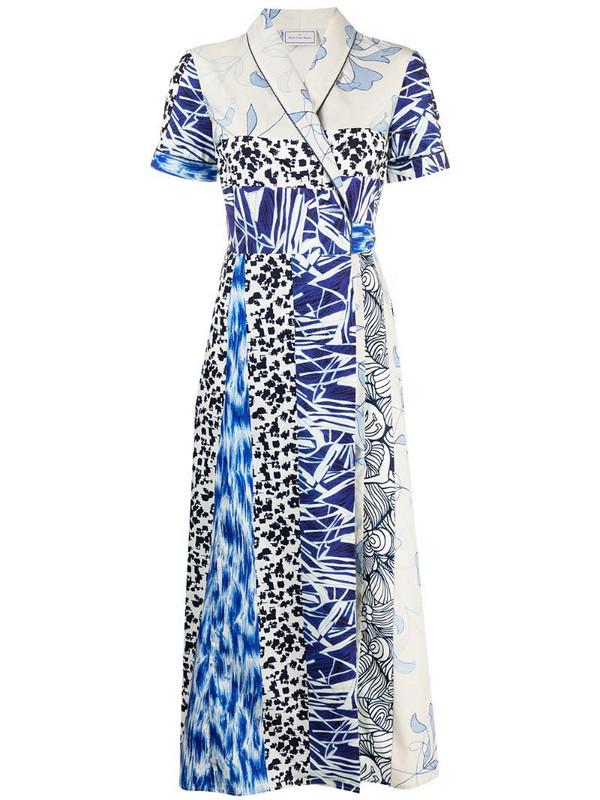 Pierre-Louis Mascia Diomede cotton wrap dress in neutrals