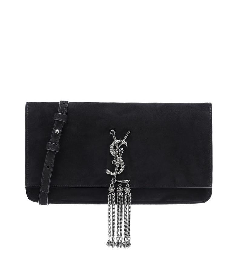 Saint Laurent Kate Baguette Medium shoulder bag in black