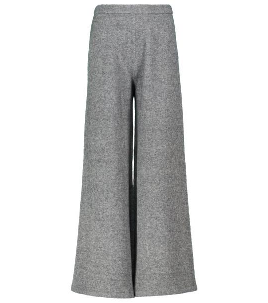 Proenza Schouler Wide-leg wool and yak-blend pants in grey