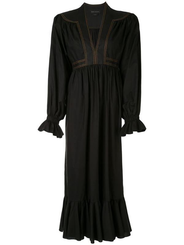 Karen Walker Graphite midi dress in black