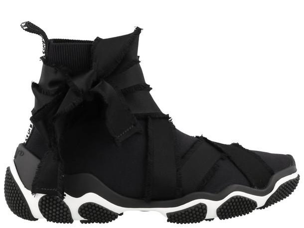 Red Valentino Glam Run Sneakers in black