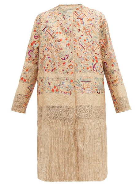 By Walid - Tanita 19th Century Silk Coat - Womens - Ivory Multi