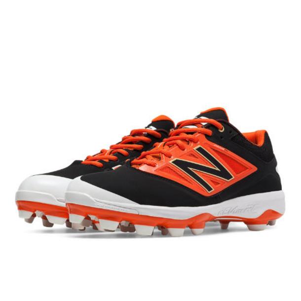 New Balance Low Cut 4040v3 TPU Molded Cleat Men's Low-Cut Cleats Shoes - Black/Orange (PL4040O3)