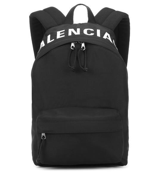 Balenciaga Wheel S nylon backpack in black