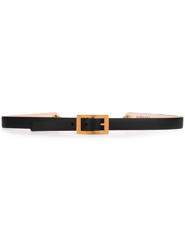 Versace Medusa charm belt in black